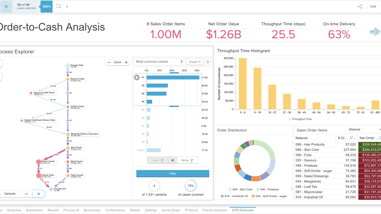 Screenshot - Process Analytics Visualization