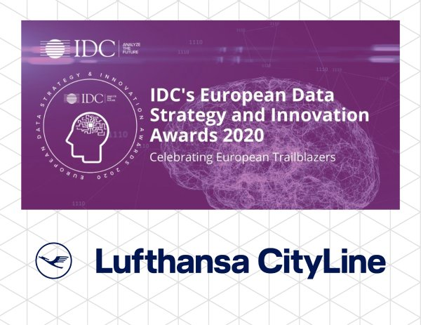 Lufthansa CityLine IDC European Data Strategy & Innovation Awards 2020
