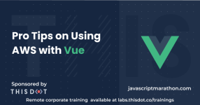 Pro Tips on Using AWS with Vue logo