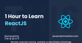 1 Hour to Learn ReactJS logo