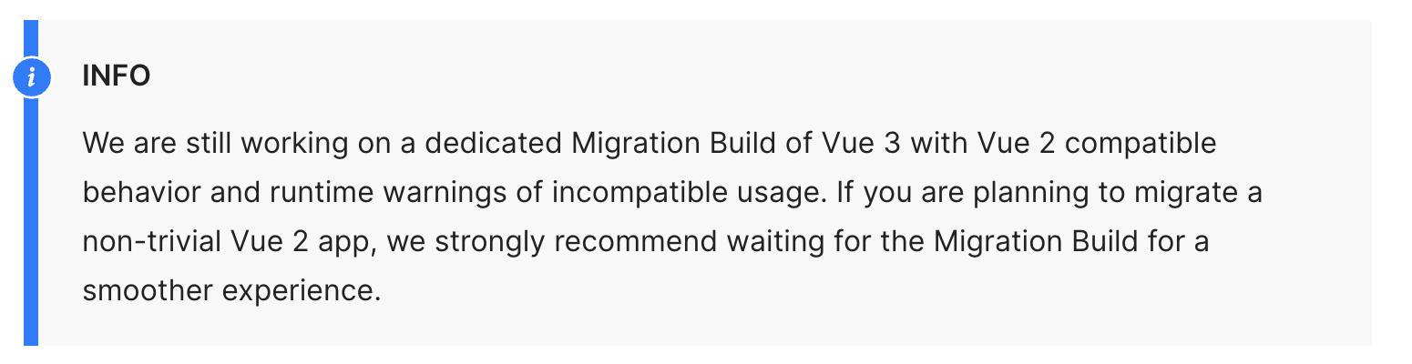 Vue 3 Migration Guide Announcement