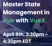 Master State Management in Vue with VueX logo