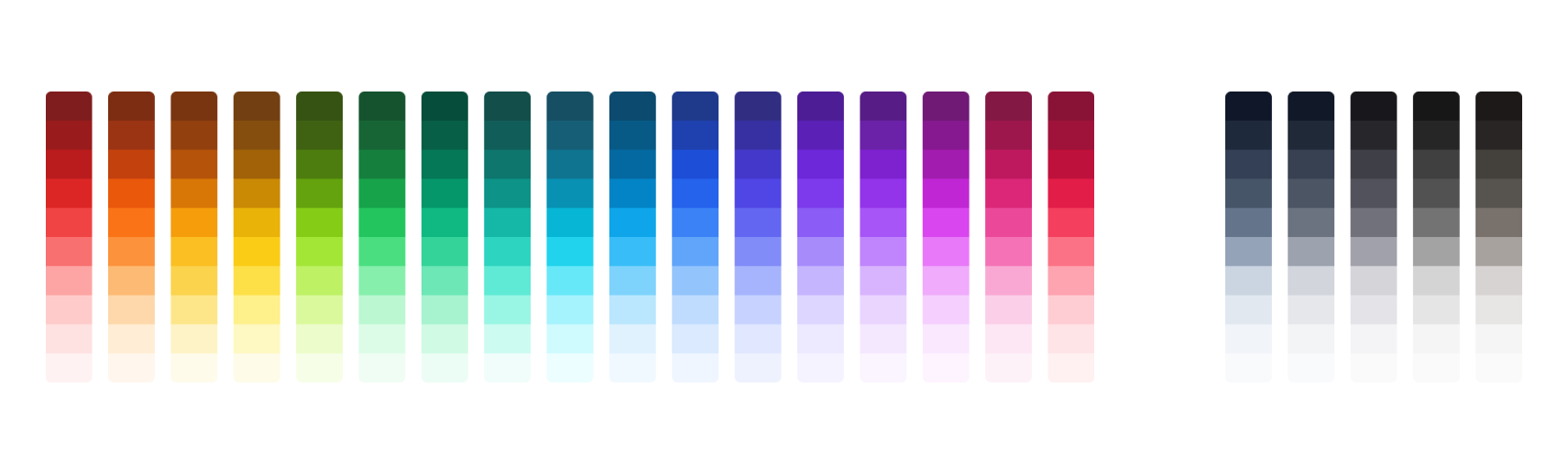 Tailwind 2.0 Color Palette
