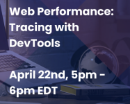 Web Performance: Tracing with DevTools logo