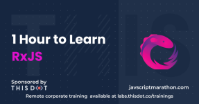 1 Hour to Learn RxJS logo