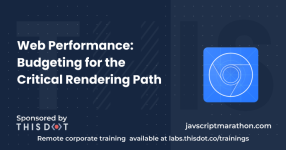 Web Performance: Budgeting for the Critical Rendering Path logo