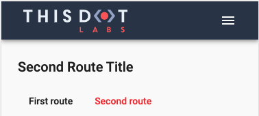 Second route