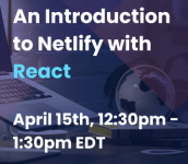An Introduction to Netlify with React logo