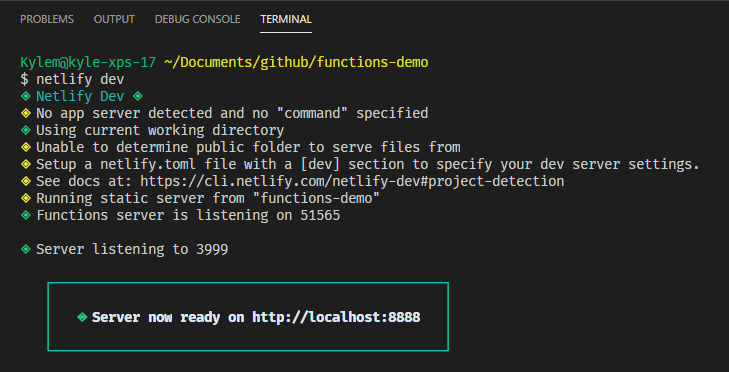 Netlify Dev