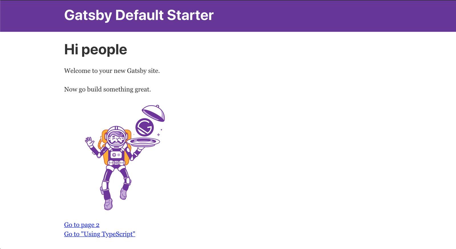 Gatsby Default Starter Homepage