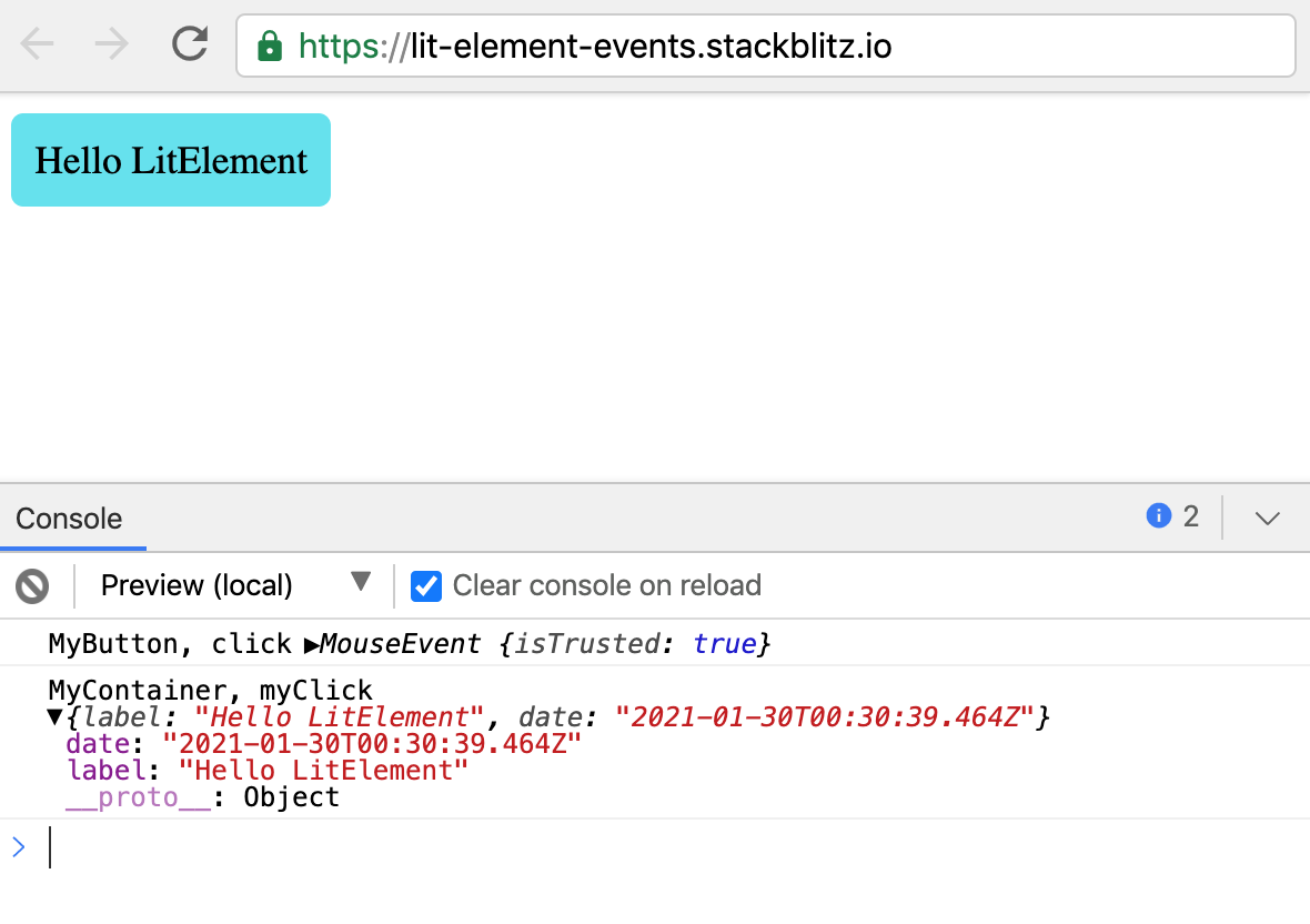 Custom Event Handling with LitElement