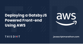 Deploying a GatsbyJS Powered Front-end Using AWS logo