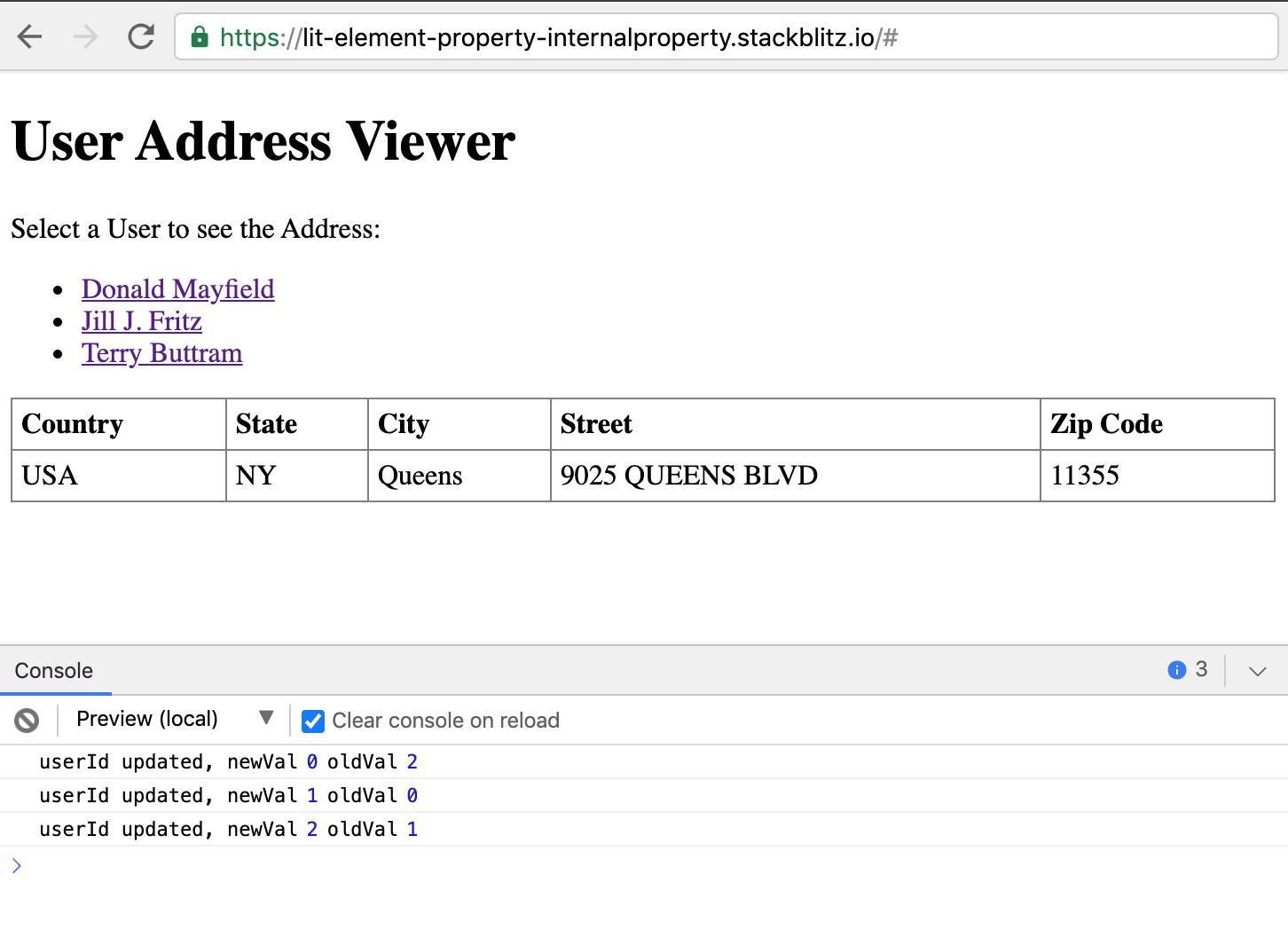 LitElement properties: @property vs @internalproperty