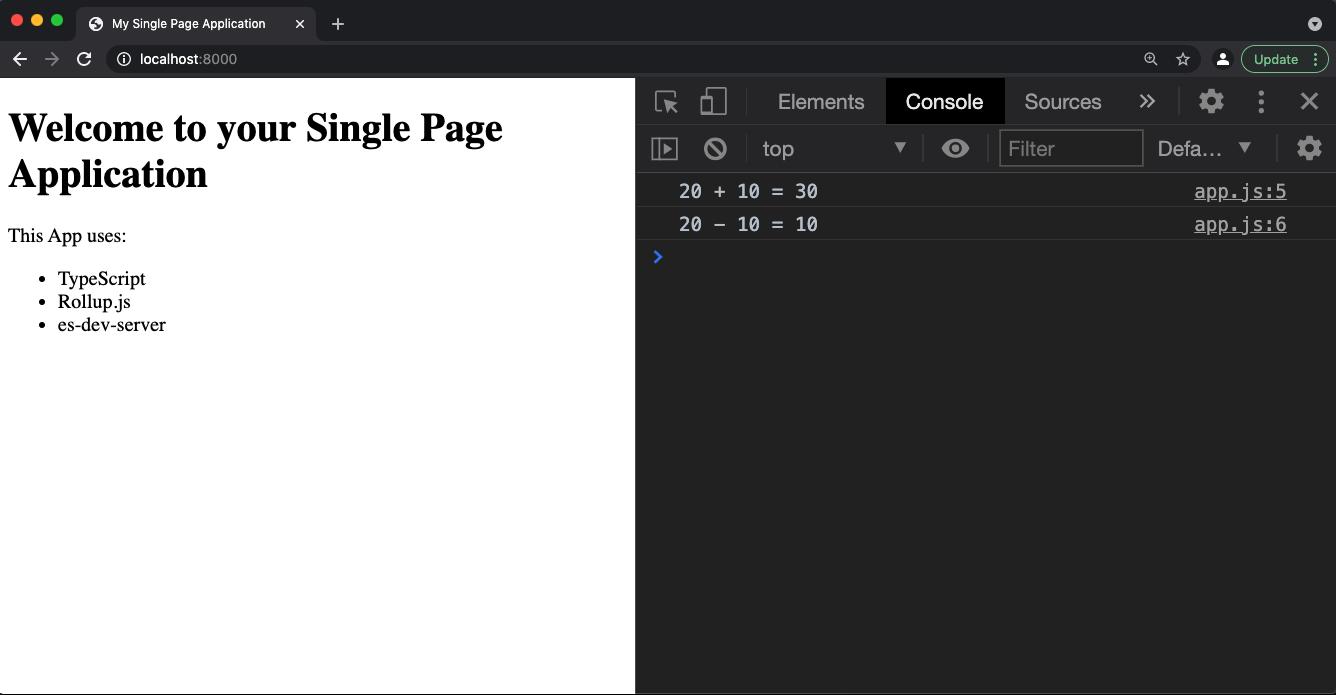 single-page-application rollup web-dev-server