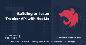 Building an Issue Tracker API with NestJs logo