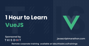 1 Hour to Learn VueJS logo
