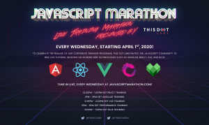 Announcing Free JavaScript Training During the JavaScript Marathon - This Dot Celebrates Remote Corporate Training Courses with Free Classes All April
