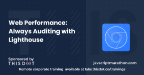 Web Performance: Always Auditing with Lighthouse logo