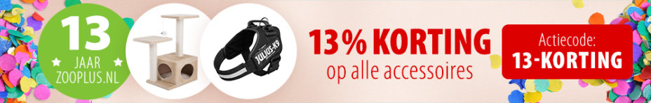 13% korting accessoires