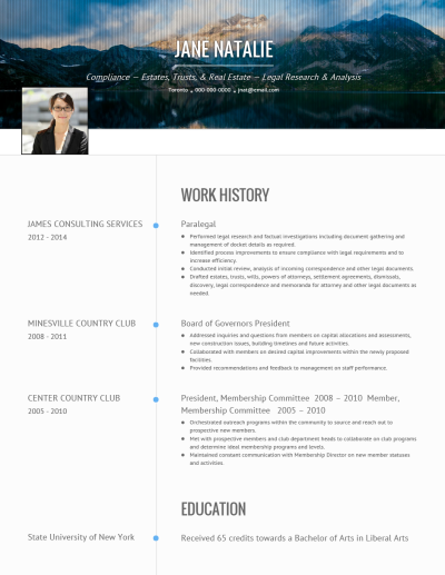 Targeted CV Template and Example - Onyx by VisualCV