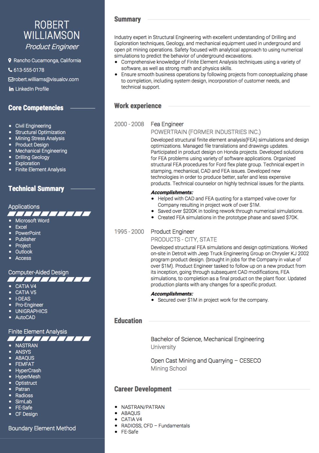 USA CV Image