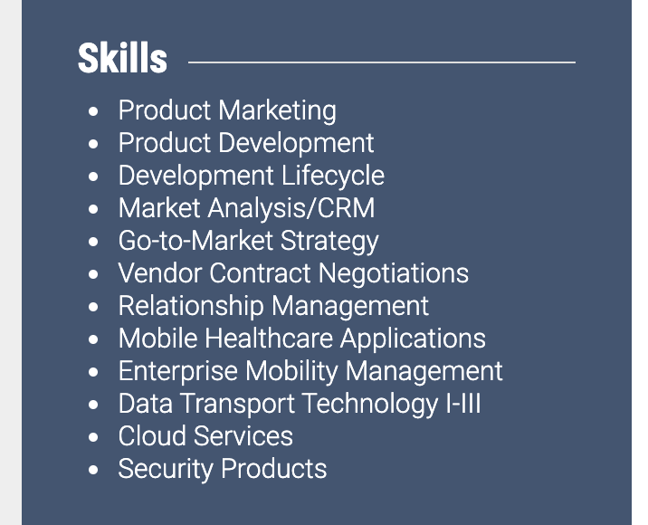 Skills Section