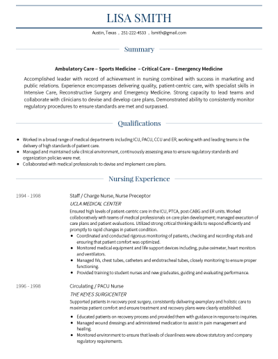 Traditional CV Template and Example - Monte by VisualCV