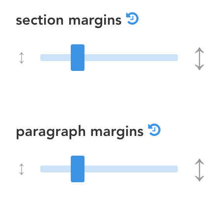 margin-sliders