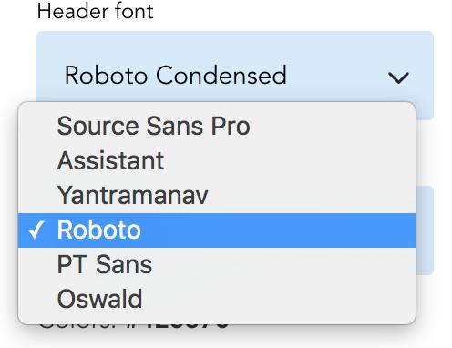 Font-list-open