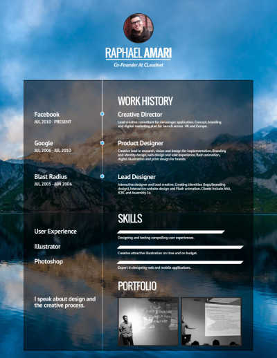 Creative CV Template and Example - Verge by VisualCV