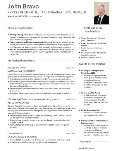 One Page CV Template and Example - Slate by VisualCV
