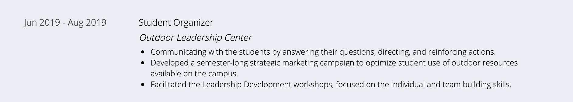 student-organizer