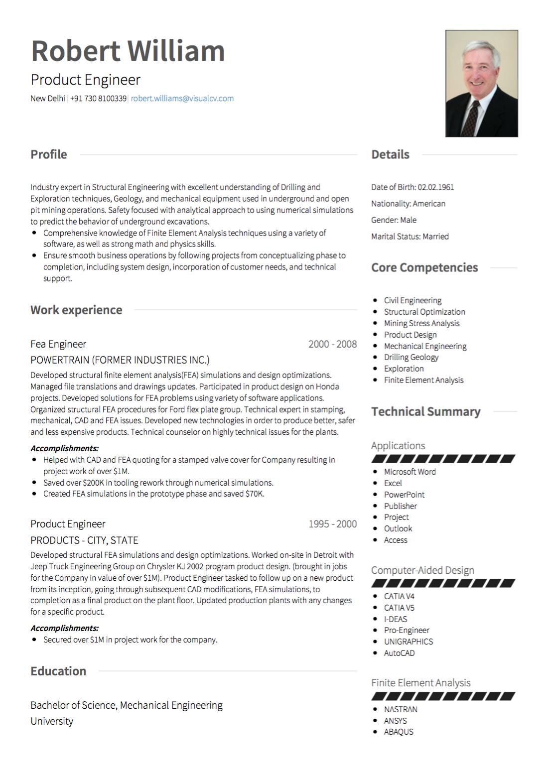 Swiss CV Image