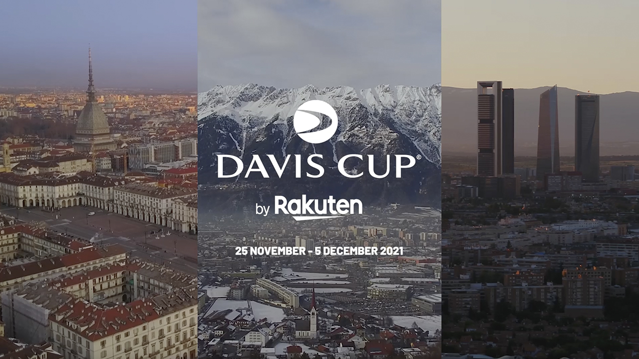 Innsbruck and Turin join Madrid as hosts of the Davis Cup by Rakuten Finals 2021