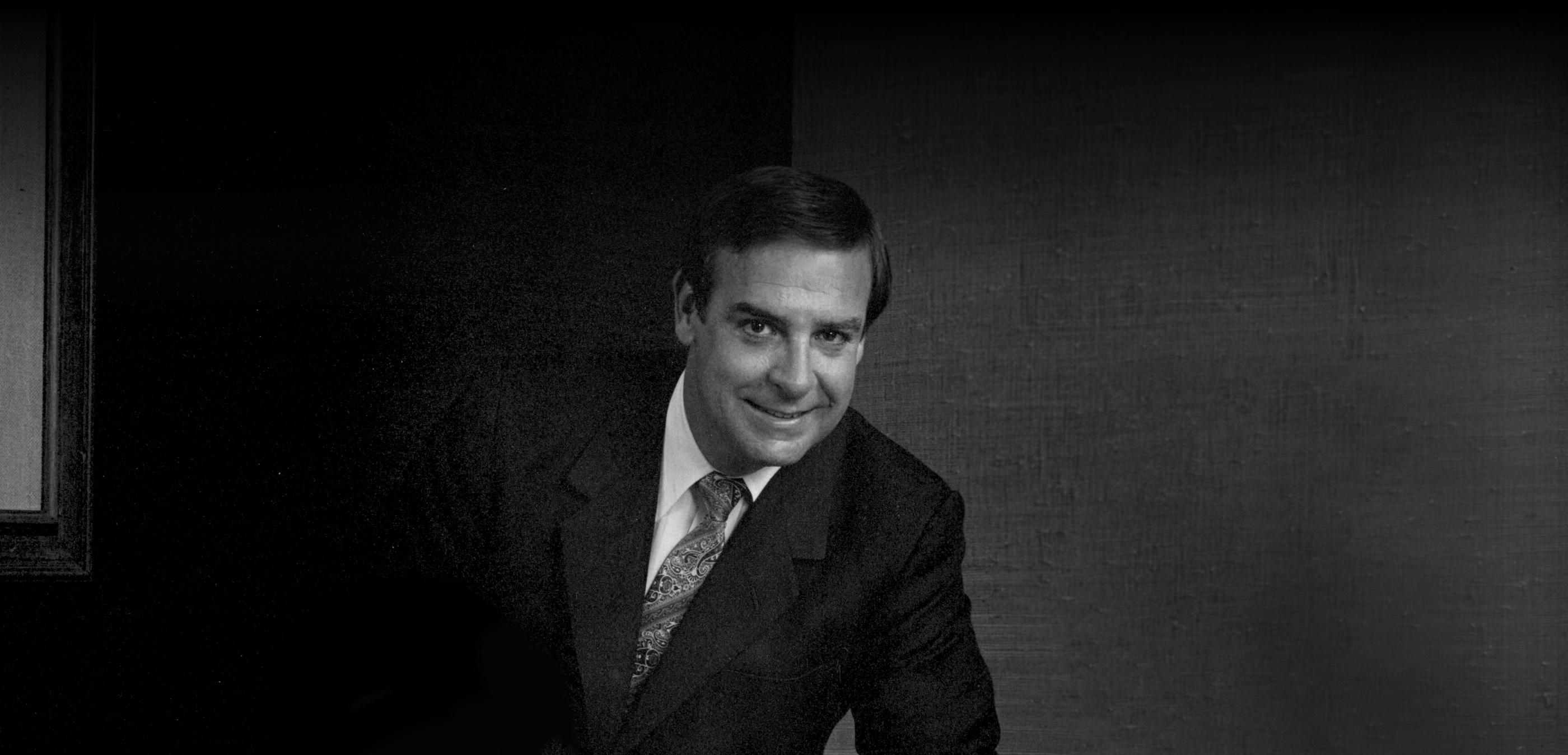 Black and white image of Jack Lockton