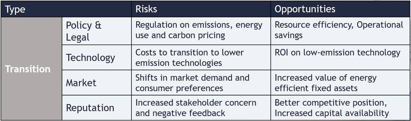 Transitional Risks