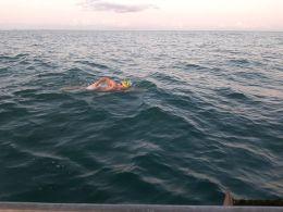 Man swimming in ocean