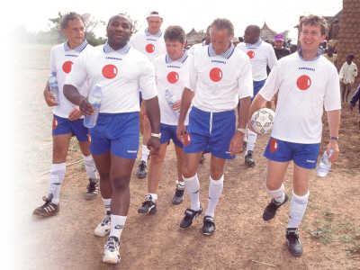 The celebrity football team in Africa