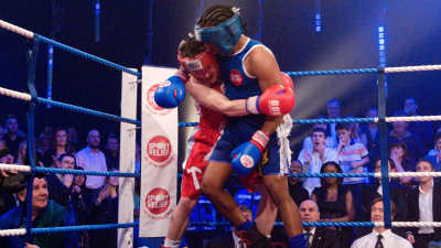 Celebrity boxing for Sport Relief 2008