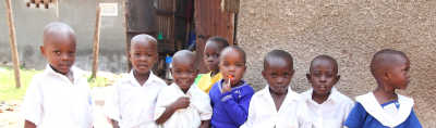 A group of young children in Africa