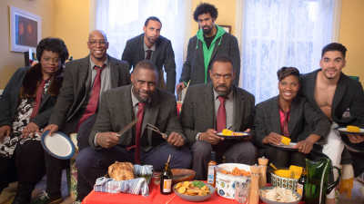 Cast of the Luther sketch for Sport Relief 2016
