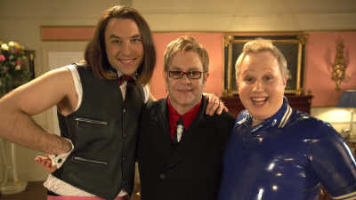 Elton John in Little Britain for Red Nose Day