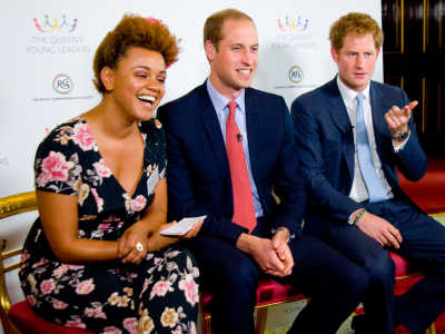 Gemma Cairney with Prince William and Prince Harry