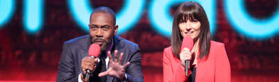 Lenny Henry and Davina Mccall presenting Red Nose Day 2015