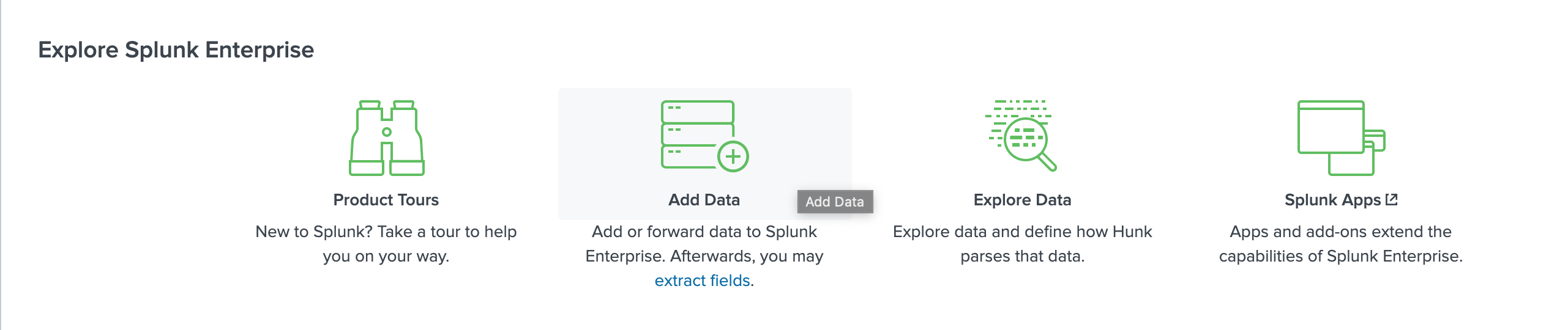 Splunk add data