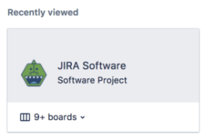 The recently view section in the project sidebar of a Jira Software project.