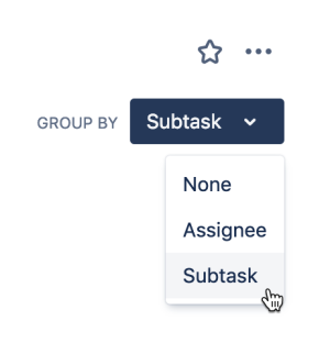 Grouping a board by subtask.