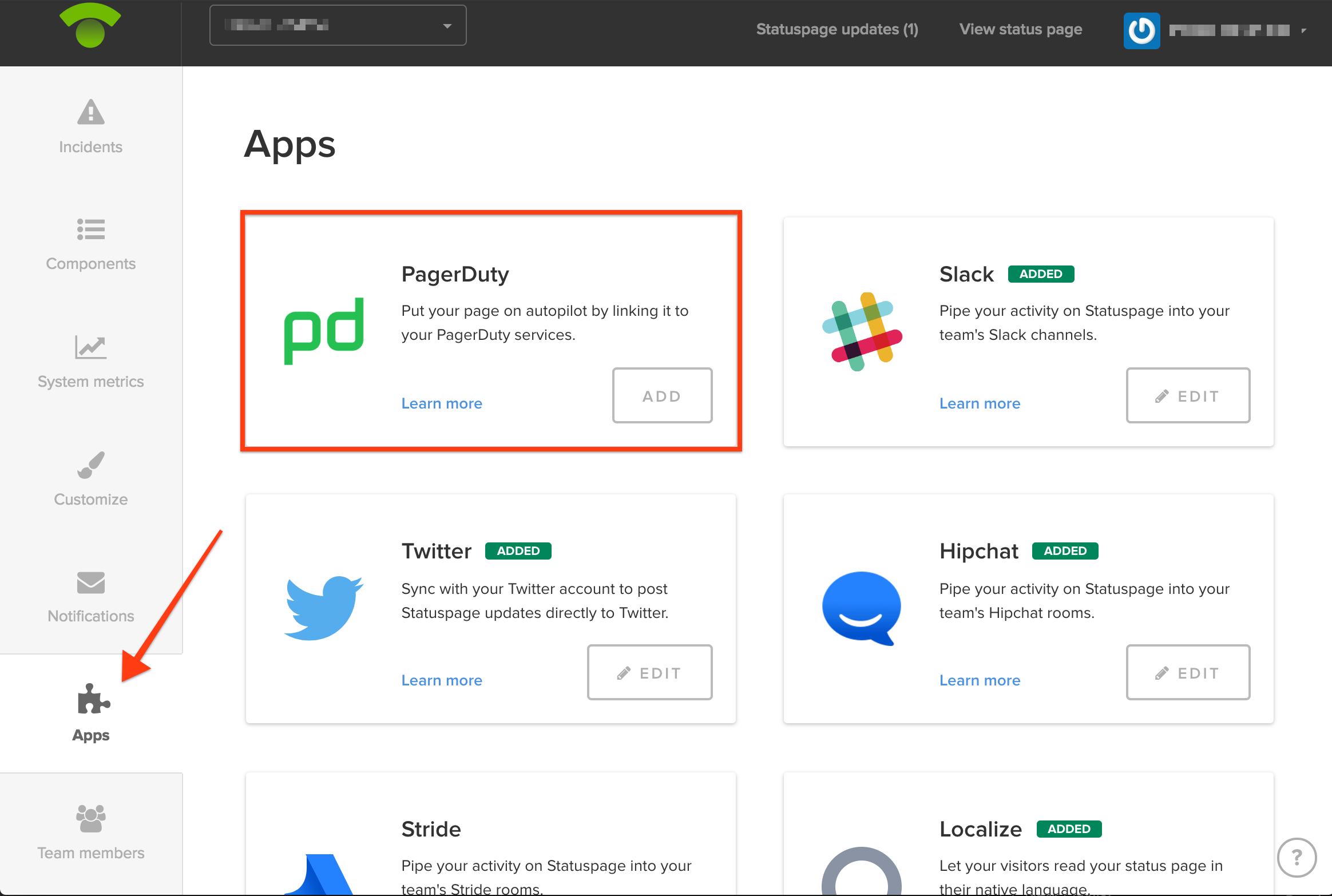 PagerDuty App integration