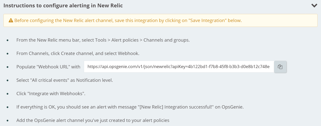 Configure alerting in New Relic