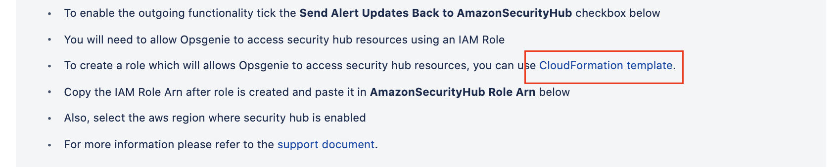 Amazon Security Hub CloudFormation template